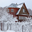 House in countryside (dacha) after heavy snowfall. Moscow region. Russia. — Stock Photo #12320648