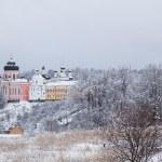 ������, ������: Orthodox monastery Davidova Pustin in winter Chekhov Moscow region Russia