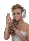 Beautiful girl with headphones — Stock Photo