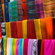 Multi-coloured scarfs - Stock Photo