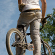 Stock Photo: Bicyclist