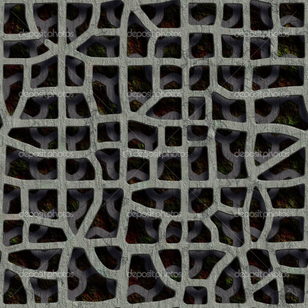 Double grate. Seamless texture.  Foto Stock #10916332
