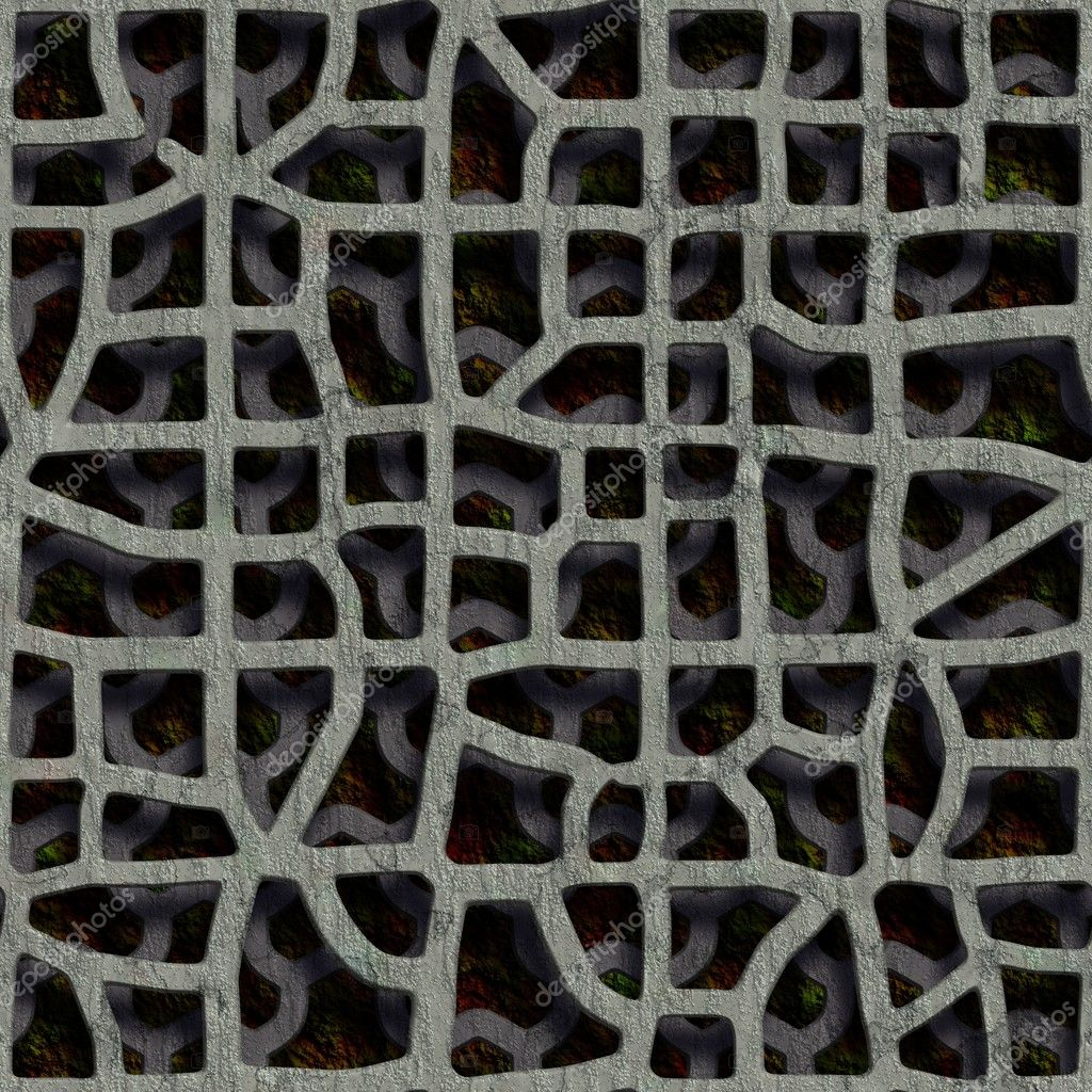 Double grate. Seamless texture. — Photo #10916332