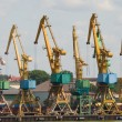 Port. Cranes. — Stock Photo