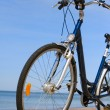 Bike on the beach — Stock Photo