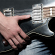 Vintage bass guitar — Stock Photo