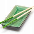 Utensils for a Japanese sushi — Stock Photo