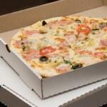 Pizza in a box — Stock Photo
