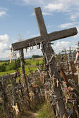 Hill of crosses. Lithuania. — Stockfoto