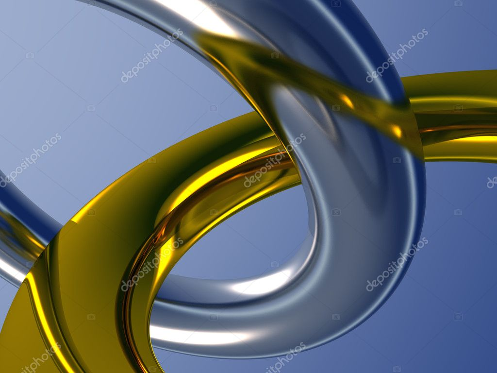 Two metal rings.  Stock Photo #10937895