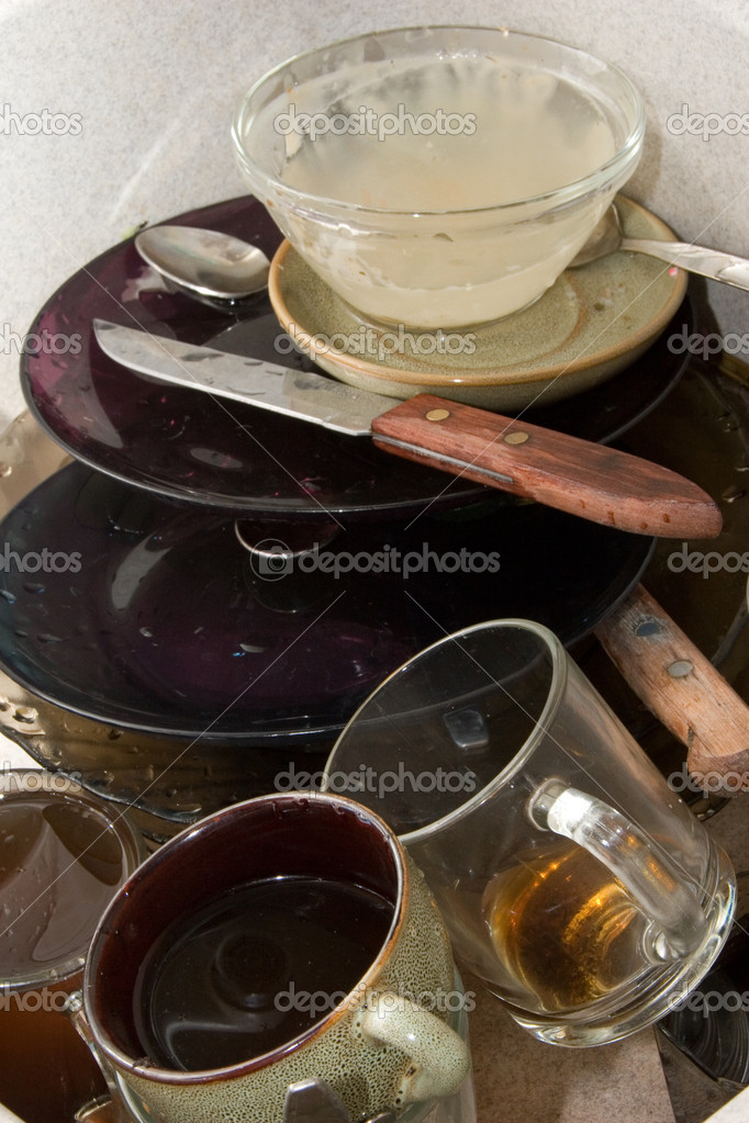 Dirty dishes.  Stock Photo #10938829