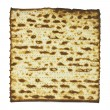 One Matza isolated on white background — Stock Photo