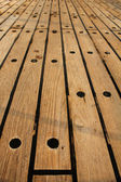 Old parquet - Wooden panels — Stock Photo