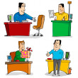 Workers in Office — Stock Vector #10934041