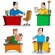Workers in the Office — Stock Vector