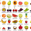 35 Fruits icons — Stock Vector #11911591