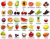 35 früchte symbole — Stockvektor
