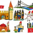 Vector de stock : Turkey - National scenes