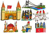 Turkey - National scenes — Vector de stock