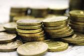Fondo de monedas de diez rublos — Foto de Stock