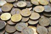 Ten roubles coins background — Stock Photo