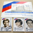 A set of stamps on the election of the first President of Russia — Stock Photo