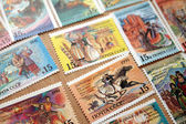 A set of stamps on holidays republics of the CIS, 1991 — Stock Photo