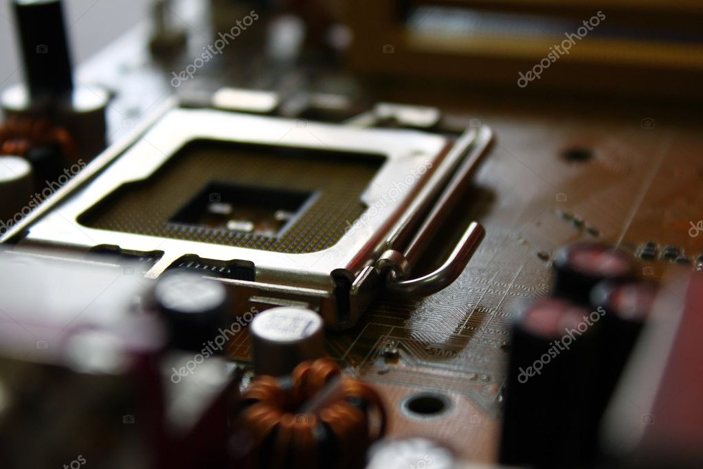 Elements of mother board — Stock Photo #11311651