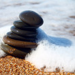 Sea stones and sea wave — Stock Photo