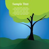 Text tree — Stock Vector