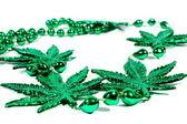 Marijuana Mardi Gras Beads — Stock Photo