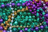 Mardi Gras Beads — Stock Photo