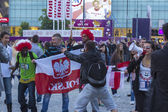 Euro 2012, Fanzone in Warsaw — Stock Photo