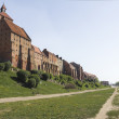 Grudziądz, the town on the Vistula river in Poland — 图库照片