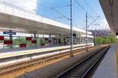 Warszawa Stadion, Railway station & Polish National Stadium — Stock Photo