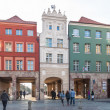 Stock Photo: Old town of Torun in Poland, city gate street Piekary