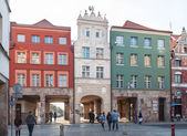 The old town of Torun in Poland, the city gate street Piekary — Stock Photo