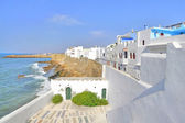 Beautiful houses on the coast in Asilah, Morocco — Stock Photo
