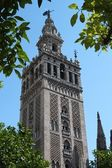 Cathedral in Sevilla in Spain, Giralda with bells — Stock Photo