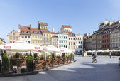 Old Town Market Place in Warsaw, Poland, at morning — Stock Photo