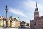 Castle Square in Warsaw ,Poland — Stock Photo
