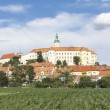 Mikulov Castle, Moravian Region in Czech Republic - Stock Photo