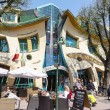 Sopot in Poland, the crooked house — Stock Photo