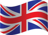 UK waved flag — Stock Vector