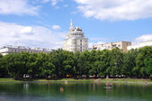 Patriarshi ponds in Moscow — Stock Photo