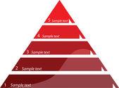 Pięć kroków diagramu, ilustracji wektorowych — Wektor stockowy