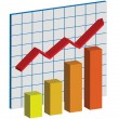 Royalty-Free Stock Vector: Business Growth graph with Red Arrow