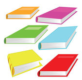 Set of books, isolated on white background — Stock Vector