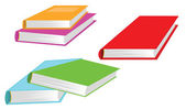 Set of books isolated on white background — Stock Vector