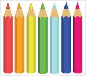 Ceras coloreadas, ilustración vectorial — Vector de stock